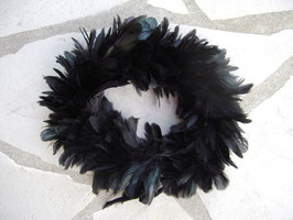 Col plumes noir