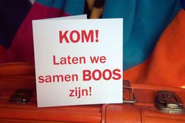 miKlaartje REBEL CARD: 'KOM! Laten we samen BOOS zijn!'
