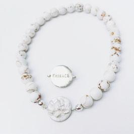 """Lotus-Armband """"EMBRACE"""" Magnesit"""
