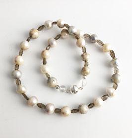 Perlenkette mit Rauchquarz