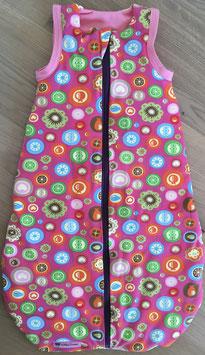 """Ganzjahres-Schlafsack """"rosa Muster"""" 70 cm // Wunschlänge 50, 70, 90 cm möglich"""