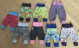 Krabbelhose, Pumphose, Babyhose, verschiedene Modelle, Wunschgröße 44-98