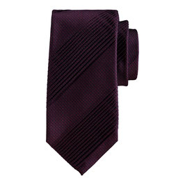 Pleated Tie Bordeaux