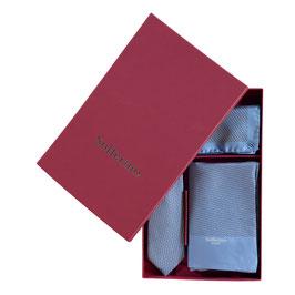 Gift Box Light Blue: Scarf, Tie & Pocket Square