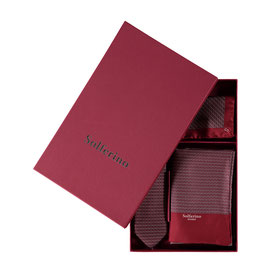 Gift Box Bordeaux: Scarf, Tie & Pocket Square