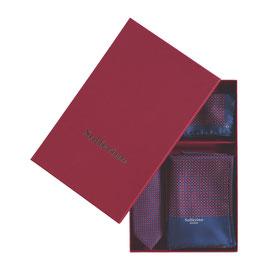 Gift Box Bordeaux/Navy: Scarf, Tie & Pocket Square