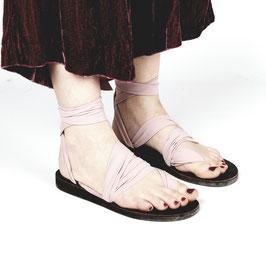 Sandale zum Binden Spandix Rose