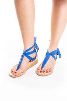 Sandale zum Binden Blau