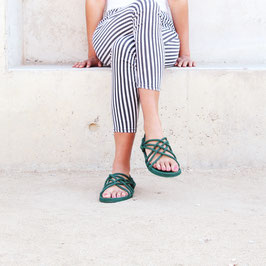 Sandale aus Seil Grün