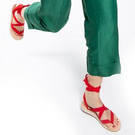Sandale zum Binden Rot