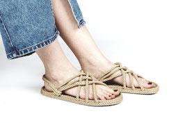 Sandale aus Seil Natur