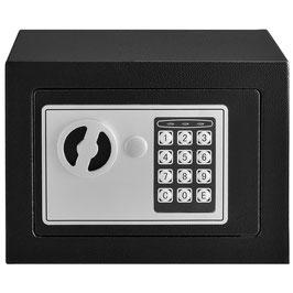 Safe Secure Tresor mit elektronischem Zahlenschloß in anthrazit   17 x 23 cm