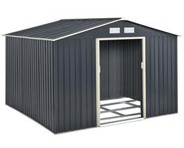 Gerätehaus Geräteschuppen aus Metall mit Satteldach 277 × 319 × 192 cm