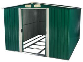 Gerätehaus Geräteschuppen aus Metall 312 x 257 x 177,50 cm grün/weiß