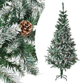 künstlicher Tannenbaum mit Kunstschnee und Ständer 180 cm