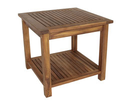 Beistelltisch Holz Akazie geölt 50x50cm