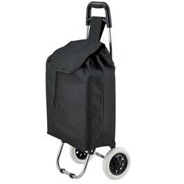 Einkaufstrolley klappbar in schwarz