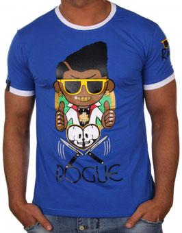 Herren T Shirt mit Printdruck in blau