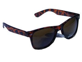 Sonnenbrille im Wayfarer Style in schwarz-braun