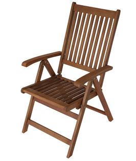 klappbarer Gartenstuhl Stuhl braun geölt zwei Stück