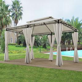 Garten Pavillon  3 x 4 Meter in creme