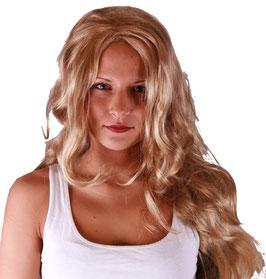 Langhaar Perücke mit leichten Wellen in blond