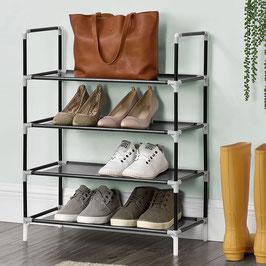 Schuhregal mit vier Ebenen für 12 Paar Schuhe