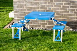 Picknicktisch mit Bänken in blau