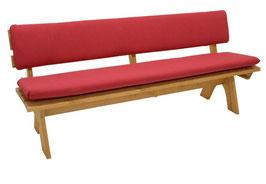 Auflagenset 2-teilig für 4-Sitzer Gartenbank in rot