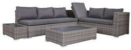 Polyrattan Gartenmöbel Lounge Sitzgruppe grau