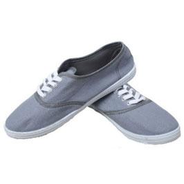 Sommerlicher Damen Sneaker Turnschuhe Stoffschuhe in grau