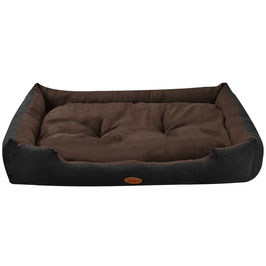Hundekorb Hundebett in schwarz-braun Größe XL 70 × 90 cm