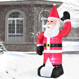 Aufblasbarer Weihnachtsmann mit LED-Beleuchtung 240 cm