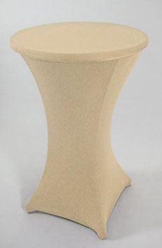 Stretch Husse für Stehtisch bis 70 cm in creme