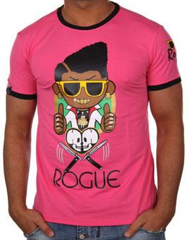 Herren T Shirt mit Printdruck in pink