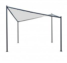 WalmdachPavillon Sonnendach 3,5x3,5 Meter in weiß