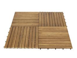 5er Set XL Bodenfliese aus Akazien Holz 50 x 50 cm
