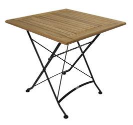Bistro Klapptisch Tisch aus Teakholz 75 x 75 x 74 cm