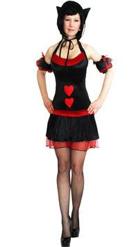 Herz Dame Kostüm Größe 32-34