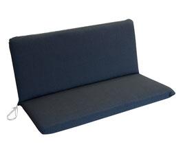 Universal Auflage für 2-Sitzer Gartenbank in anthrazit 98 x 88 cm