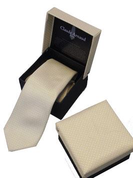 Edle Krawatte Schlips in attraktiver Geschenkbox in goldgelb