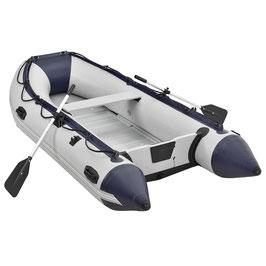 Schlauchboot Paddelboot in grau mit Aluboden aufrüstbar zum Motorboot 320 cm