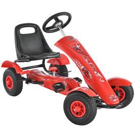 1 Sitzer Go-Kart Kinder Tretauto in rot