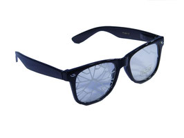 Brille im Wayfarer Style crash optik in schwarz