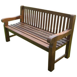 Gartenbank 3-Sitzer Eukalyptus Holz 162 cm Modell 1