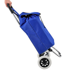 Einkaufstrolley klappbar in blau