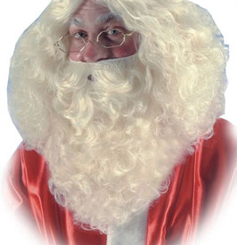 Bart Weihnachtsmann in weiß