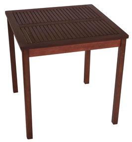 Gartentisch Holz Eukalyptus geölt 70x70 cm