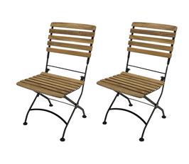 2 Stück Klappstühle Gartenstühle Teak Holz