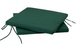 2 Sitzpolster Stuhlauflagen in grün 41 x 30 cm